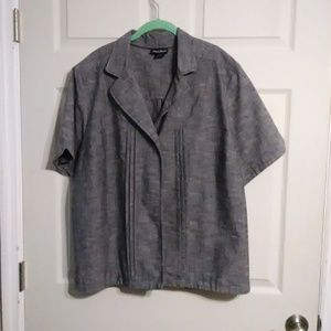Maggie Barnes grey one button jacket
